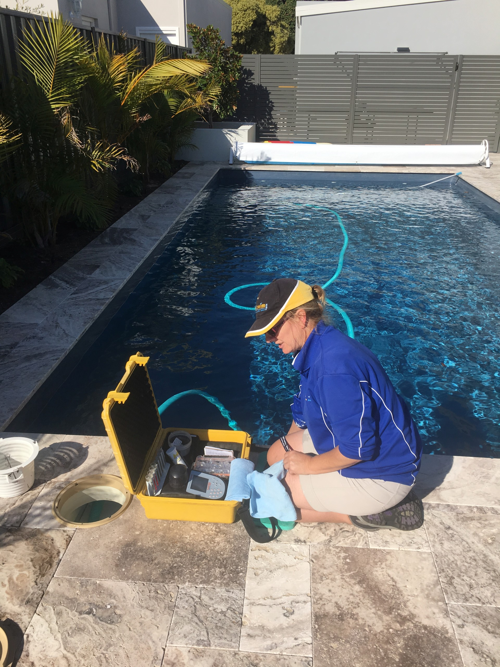 Lisa keeping your pool clean